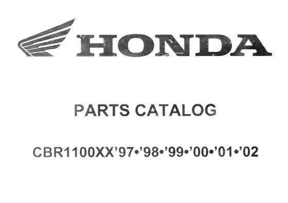 Parts list for Honda CBR1100XX (1997-2002)