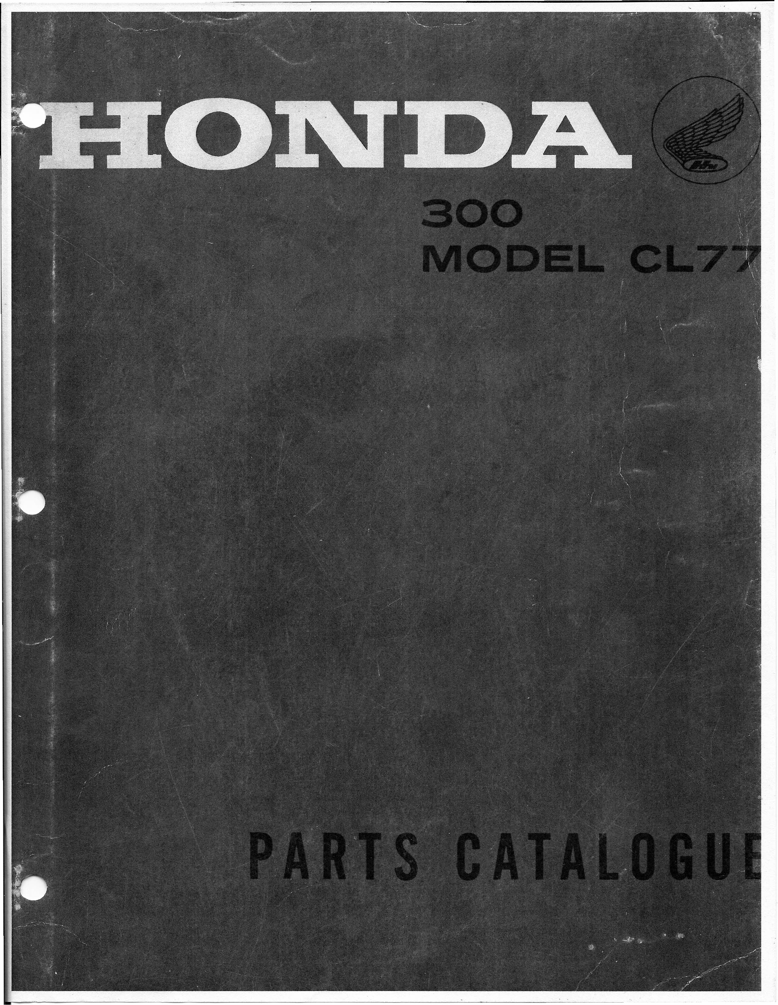 Parts list for Honda CL77 (1966)