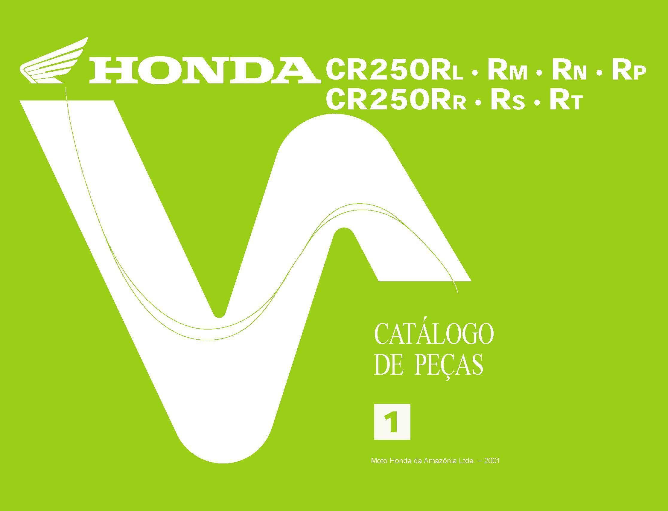Partslist for Honda CR250RM (2001)