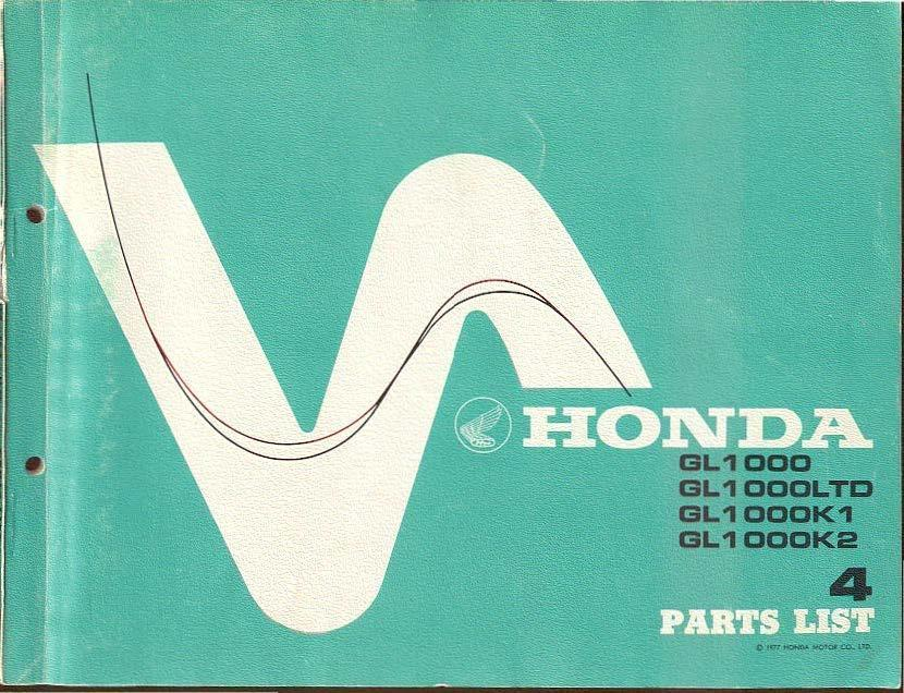 Parts list for Honda GL1000 (1977)