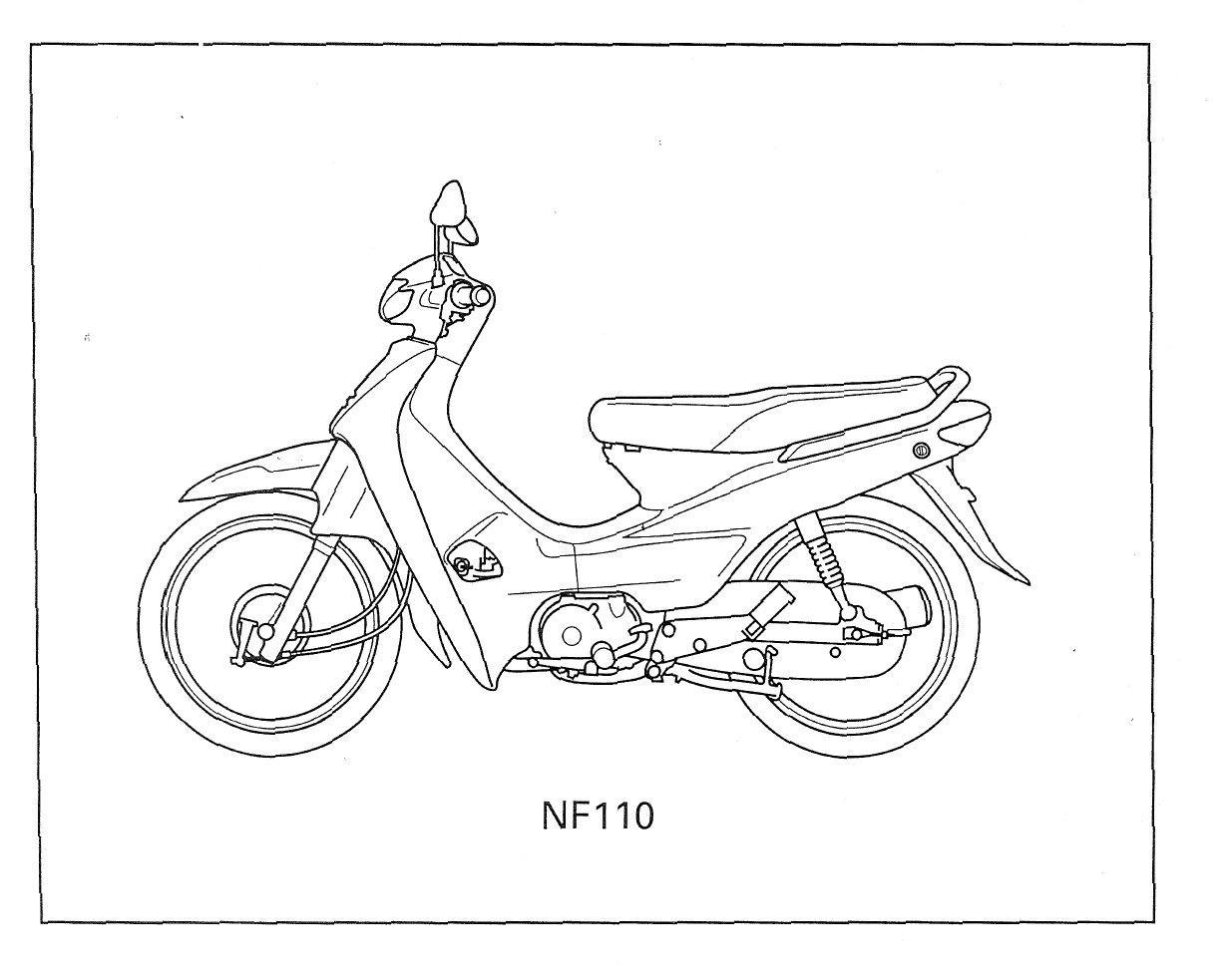 Parts list for Honda NF110 NICE (Malaysian)