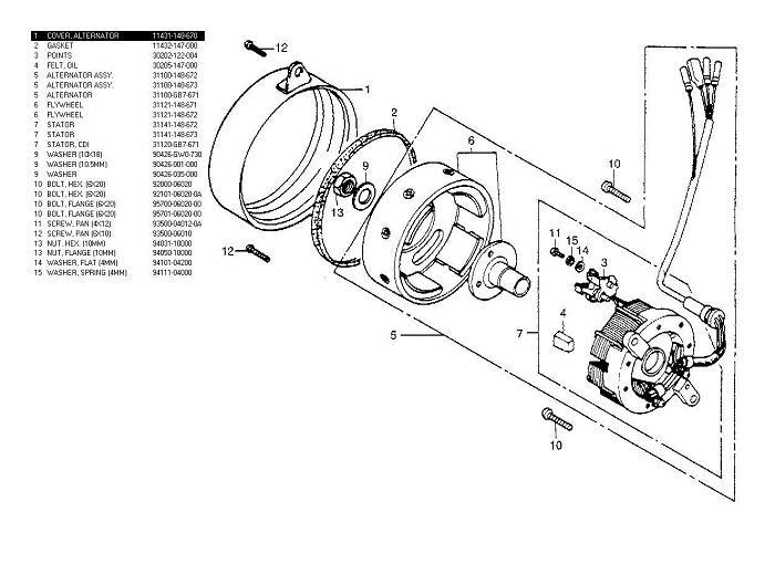 Parts List For Honda Pa50 Camino 4stroke All The Data