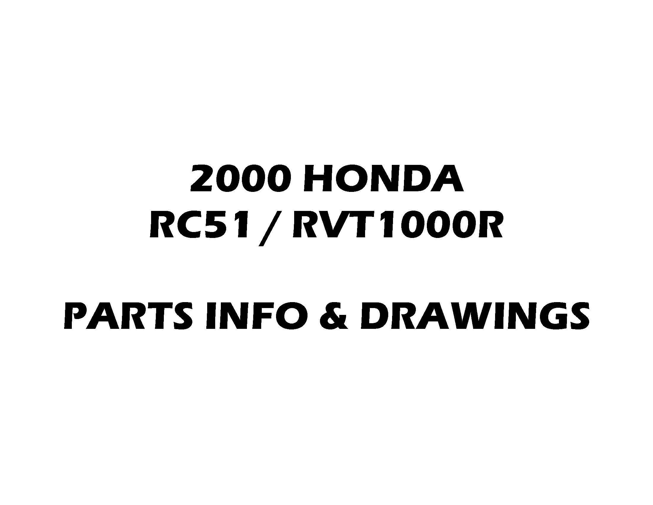 Parts list for Honda RC51/RVT1000R (2000)