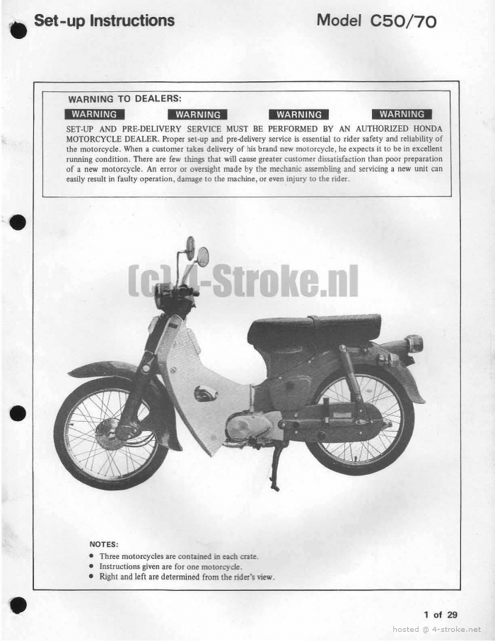 Setup Manual for Honda C70