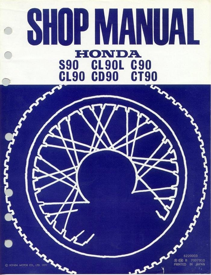 Workshop manual for Honda CD90 (1977)