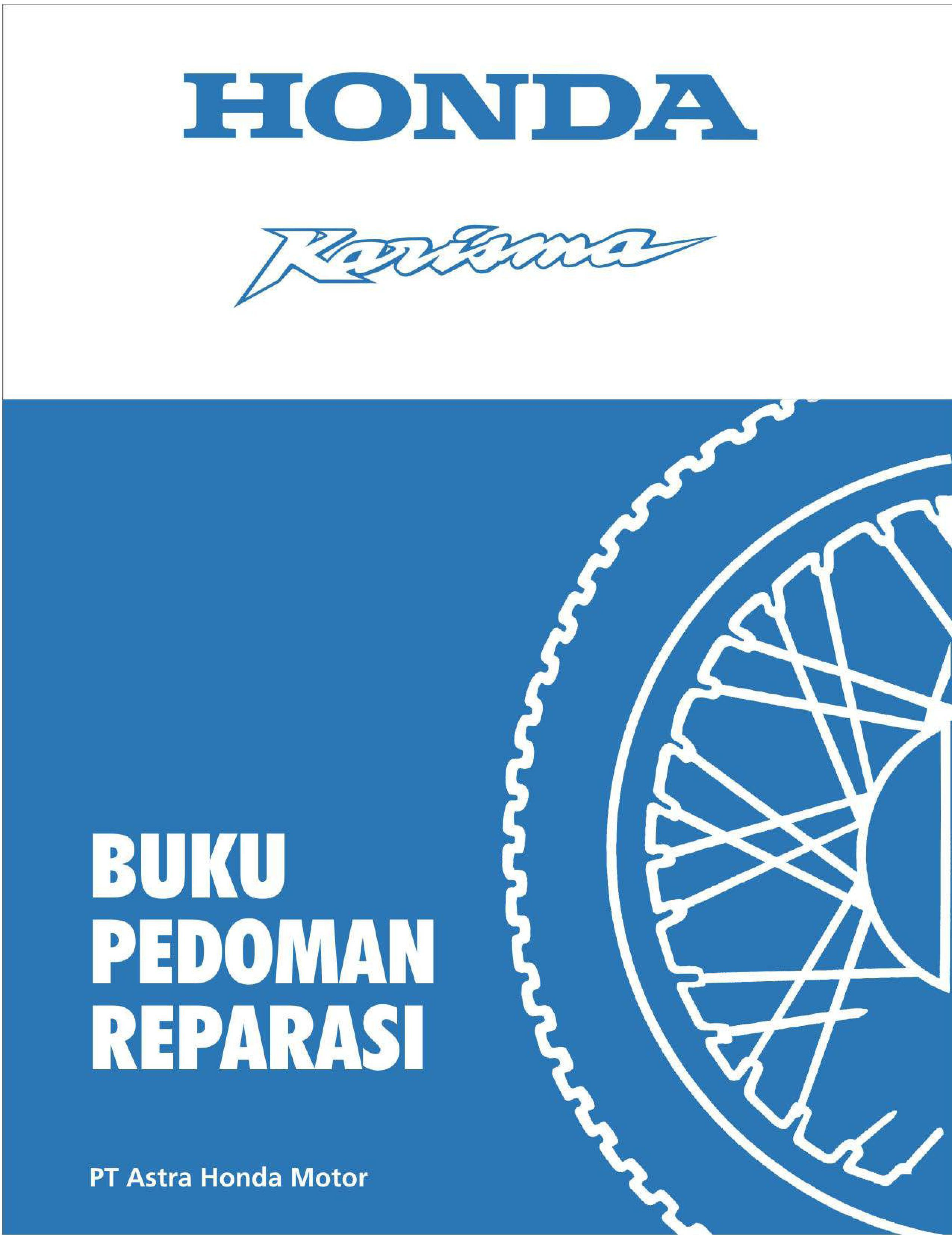 Workshop manual for Honda Astrea Karisma (2002) (Indonesian)