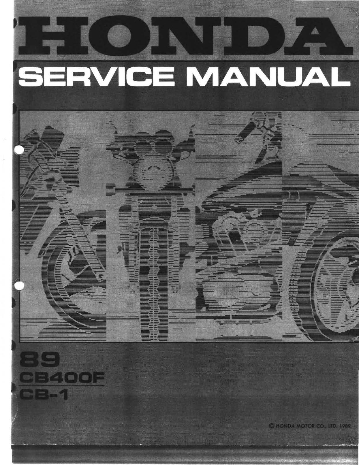 Workshop manual for Honda CB400F (1989)