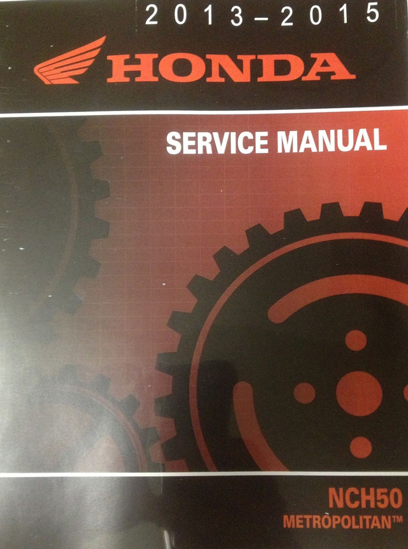 Honda 2013 2015 Nch50 Service Manual Shop Repair 13 2014 14 15