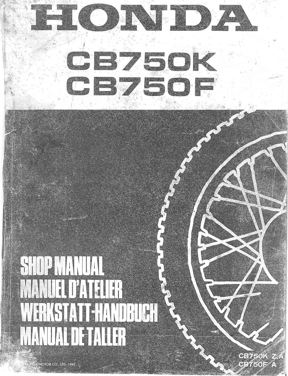 Workshop Manual for Honda CB750K (1981) (German)