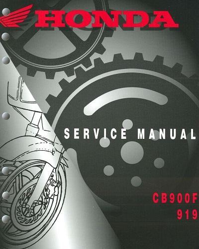 Workshop manual for Honda CB900F (2002-2003)
