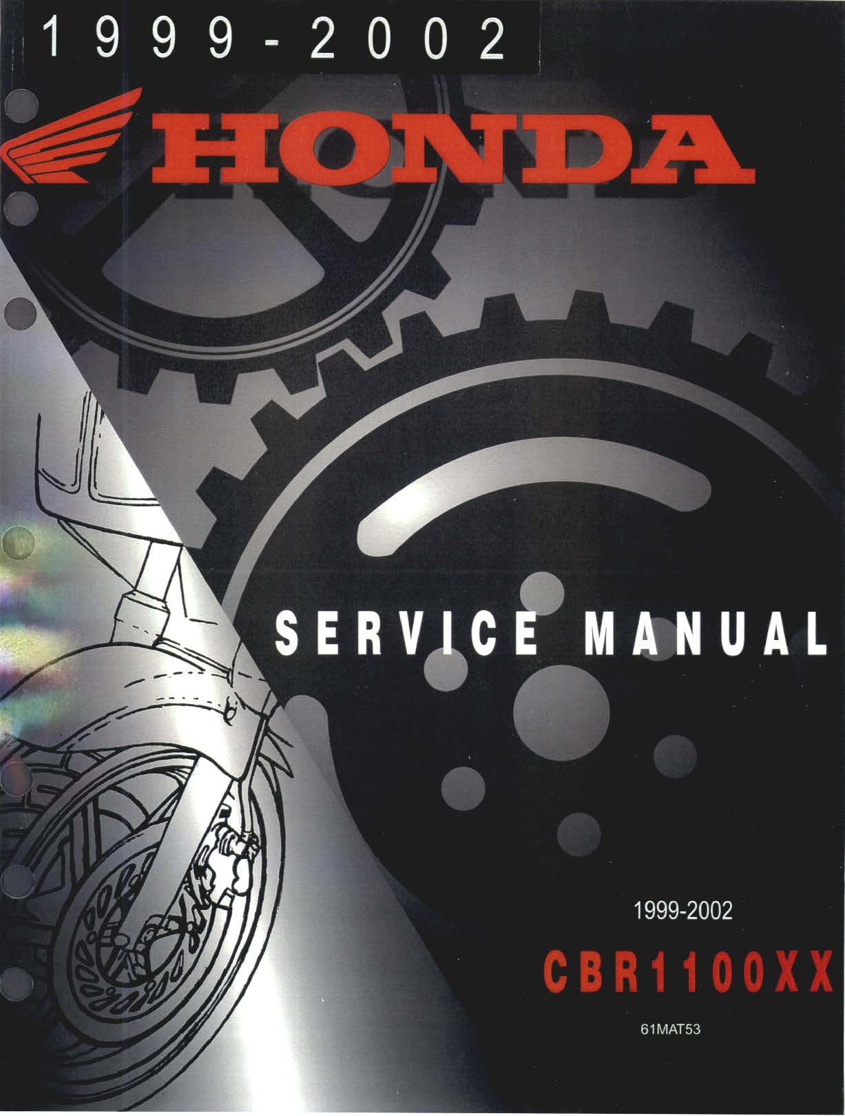 Workshop Manual for Honda CBR1100XX (1999)