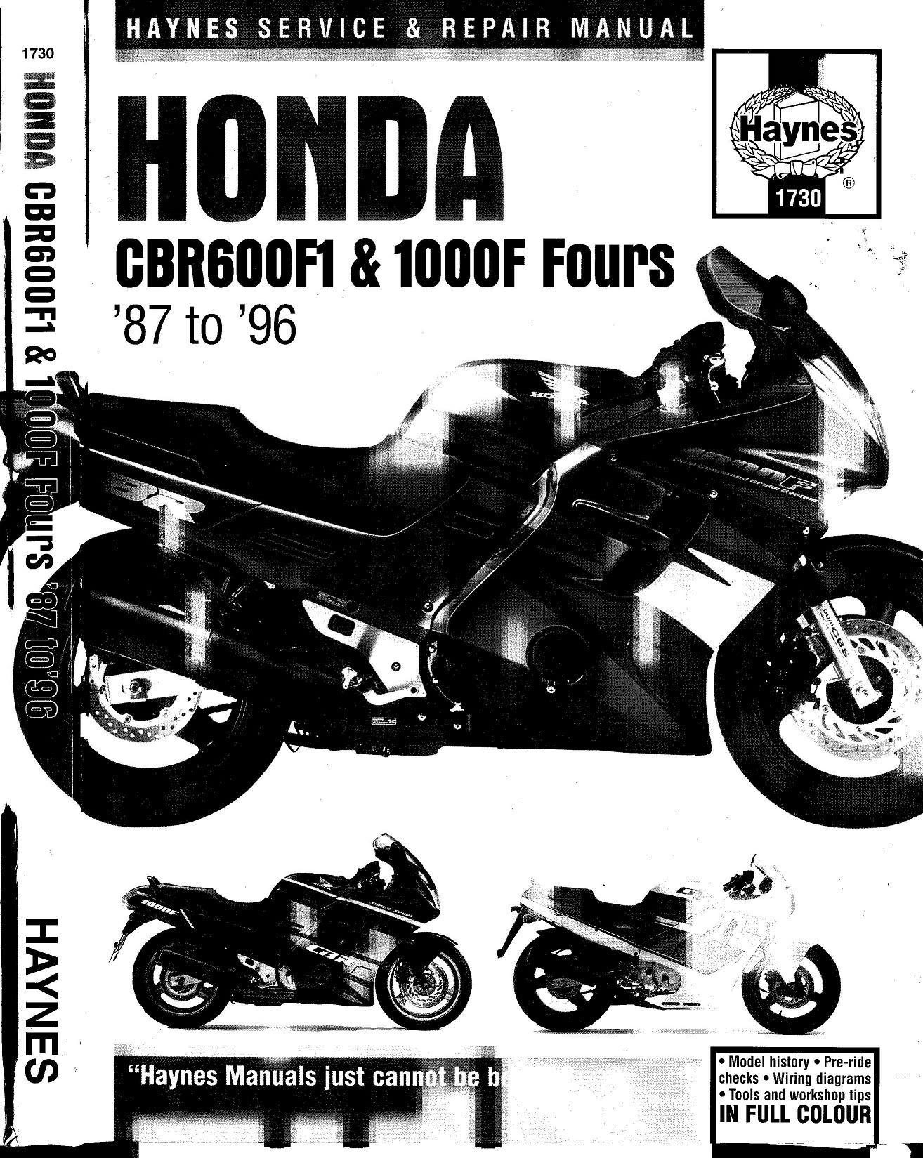 Workshop manual for Honda CBR600 F1 (1987-1996)