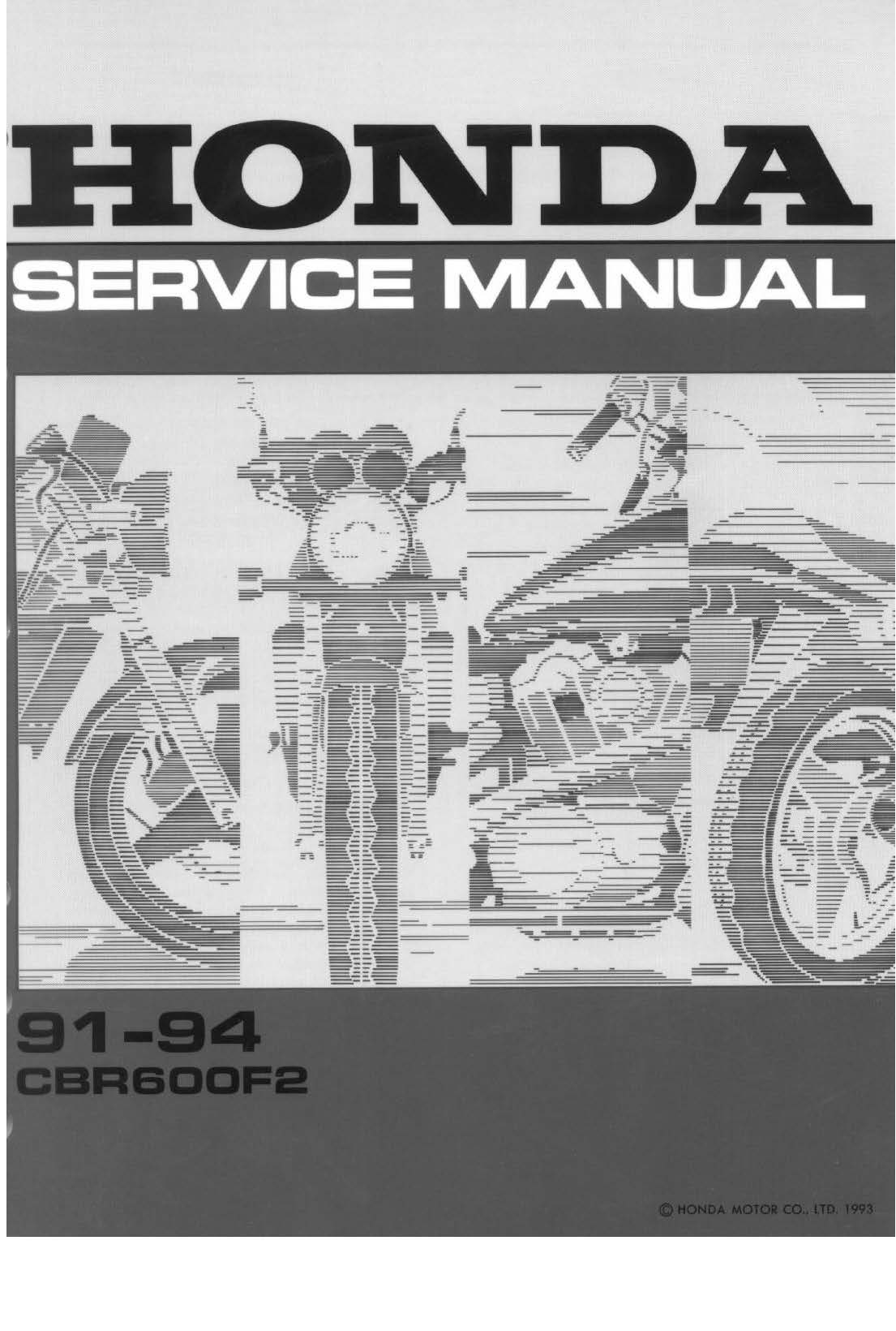 Workshop Manual for Honda CBR600F2 (1991-1994)