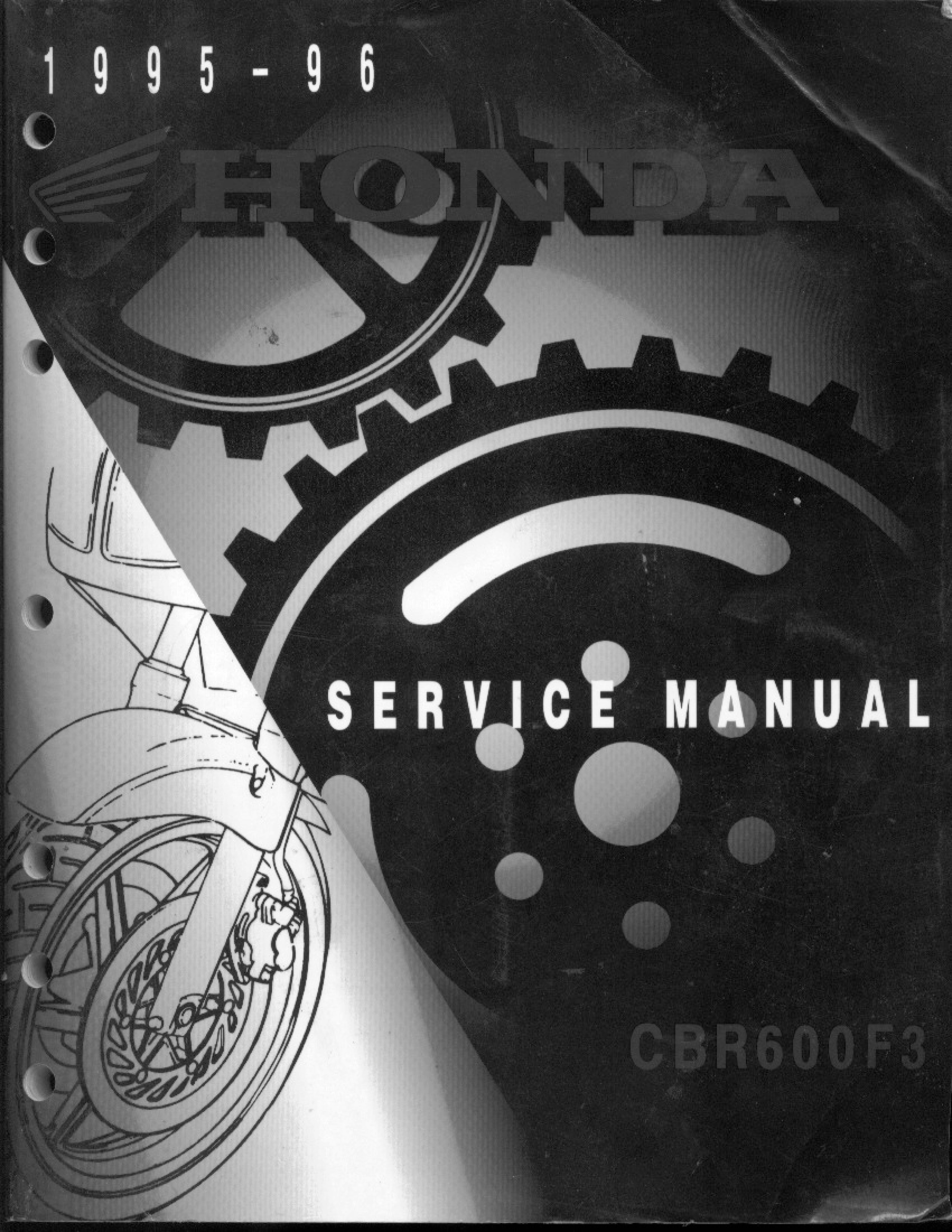 Workshop Manual for Honda CBR600F3 (1995-1996)