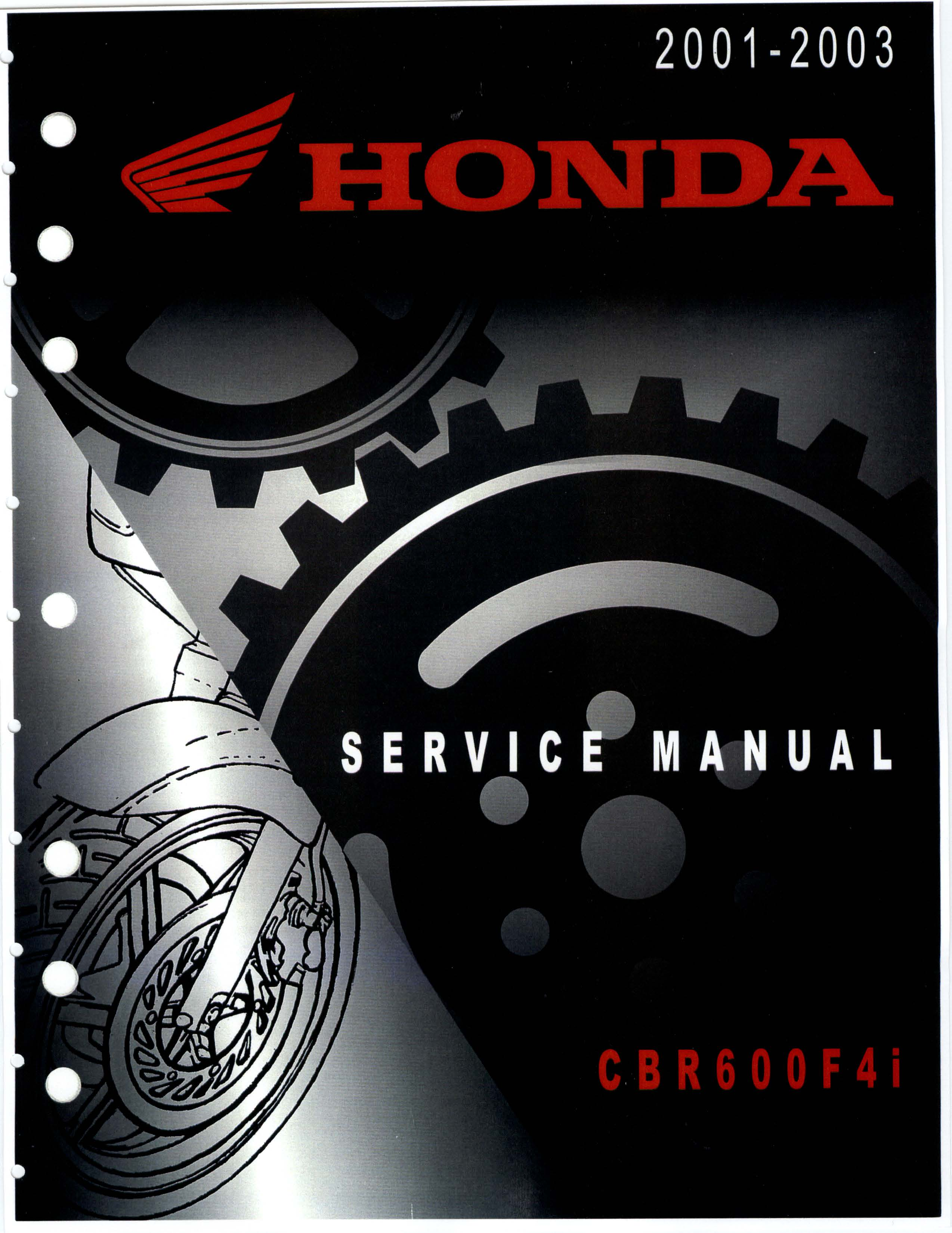 Workshop Manual for Honda CBR600F4i (2001-2003)