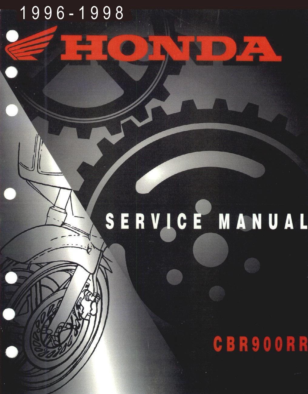 Workshop Manual for Honda CBR900RR (1996-1998)