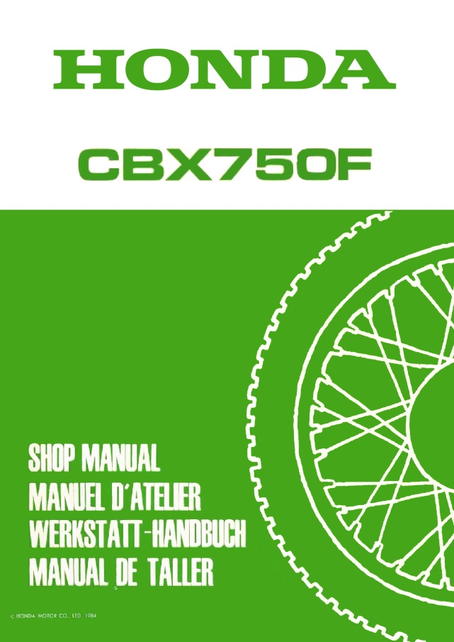 Workshop manual for Honda CBX750F (1984)