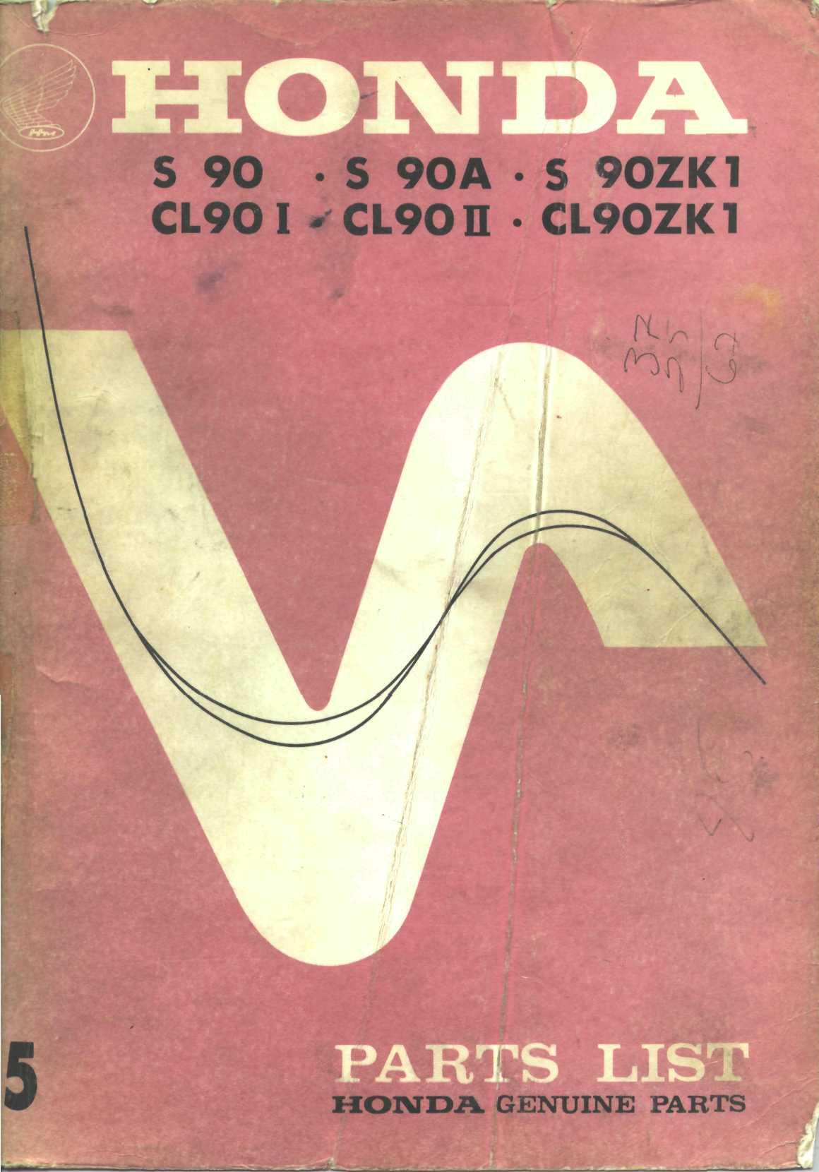 Workshopmanual for Honda CL90 (1972)