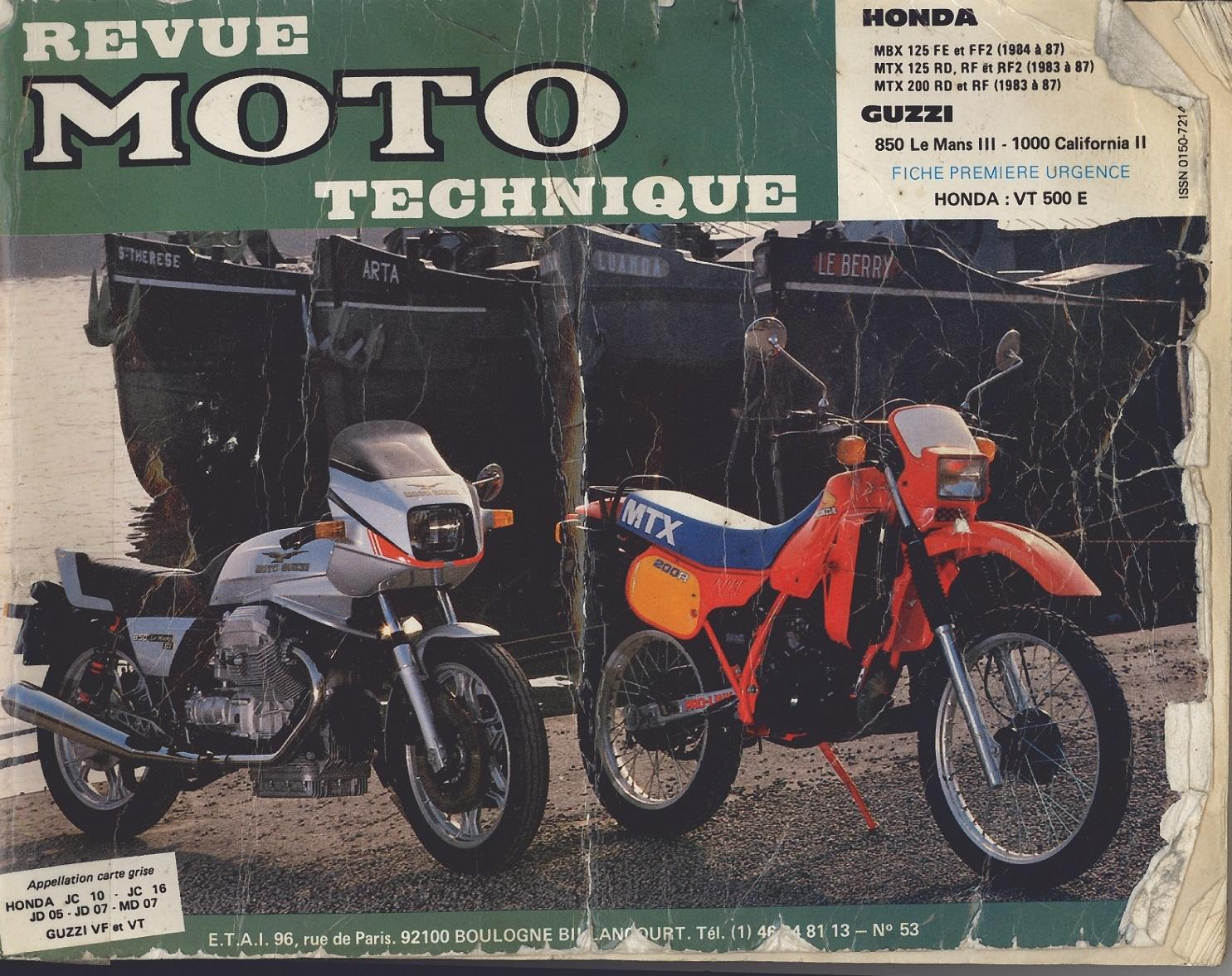 Workshop Manual for Honda MTX200RF (1983-1987)