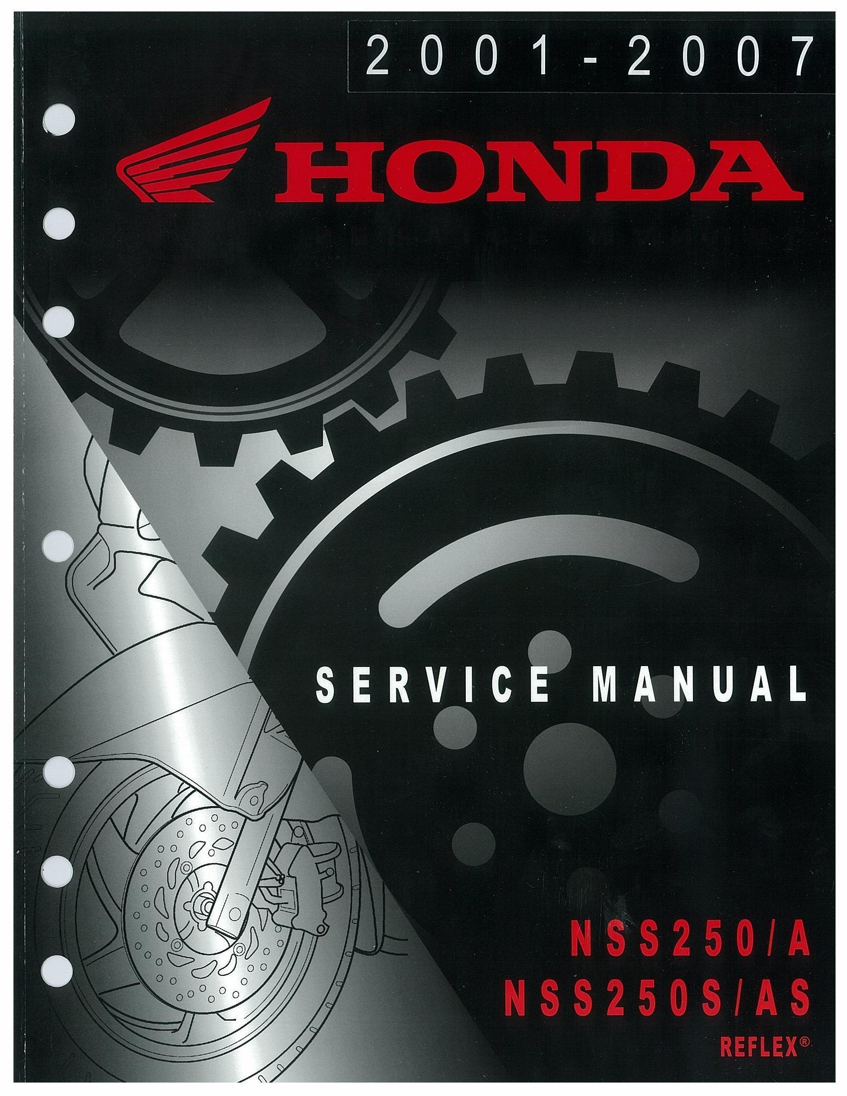 Workshop manual for Honda NSS250 (2001-2007)
