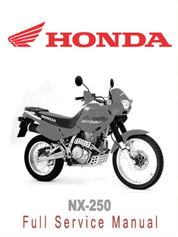 Workshop manual for Honda NX250 (1988)