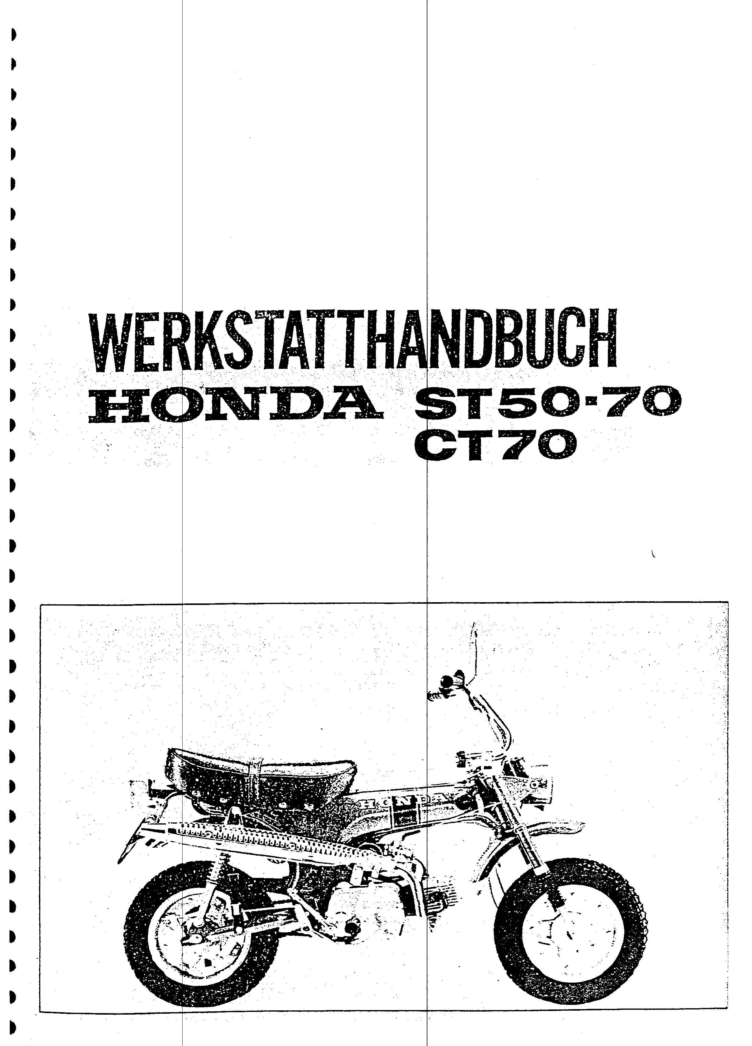 Workshop Manual for Honda ST50 (German)