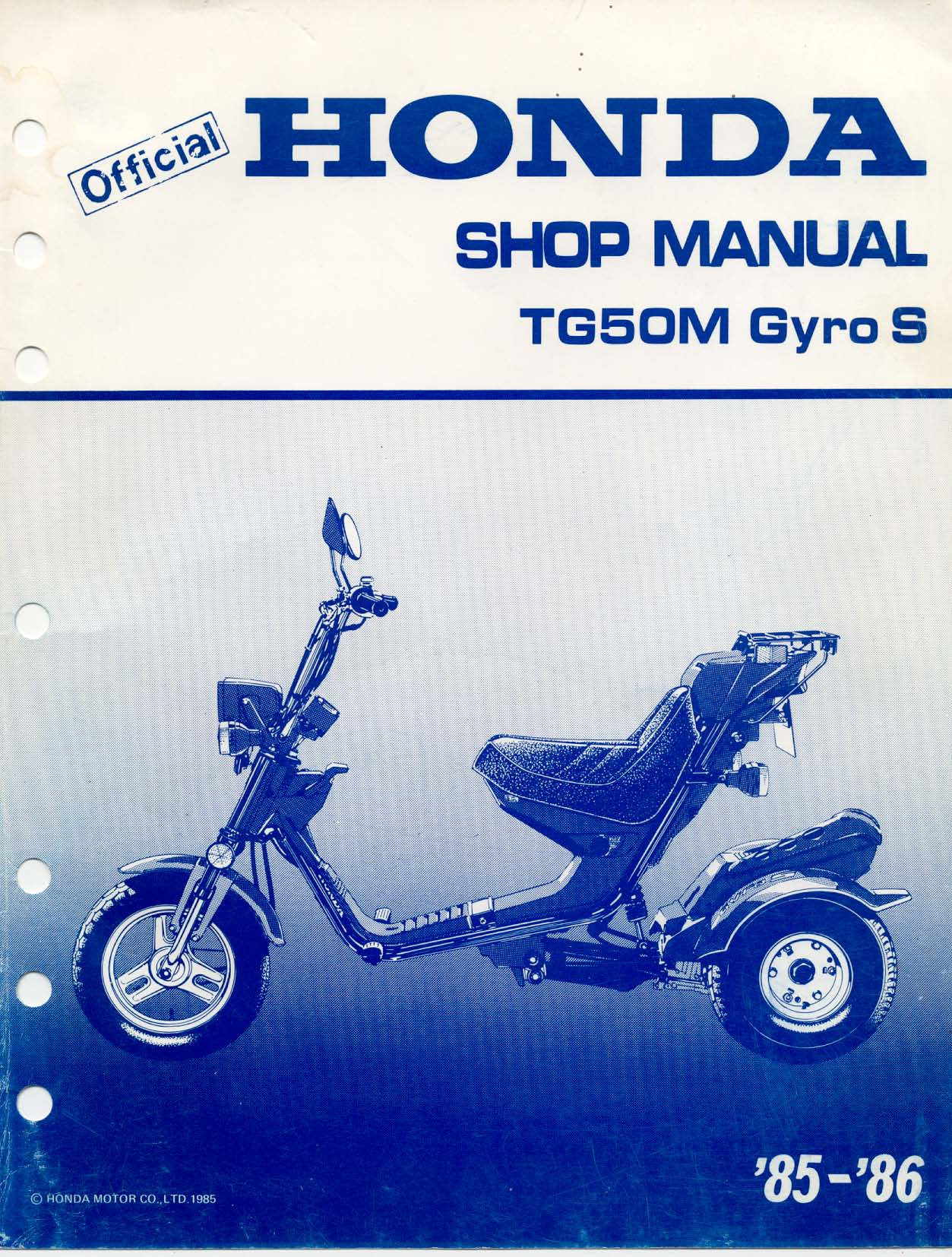 1967 Honda Ct90 Wiring Diagram Workshop Manual For Tg50m Gyro S All The Data