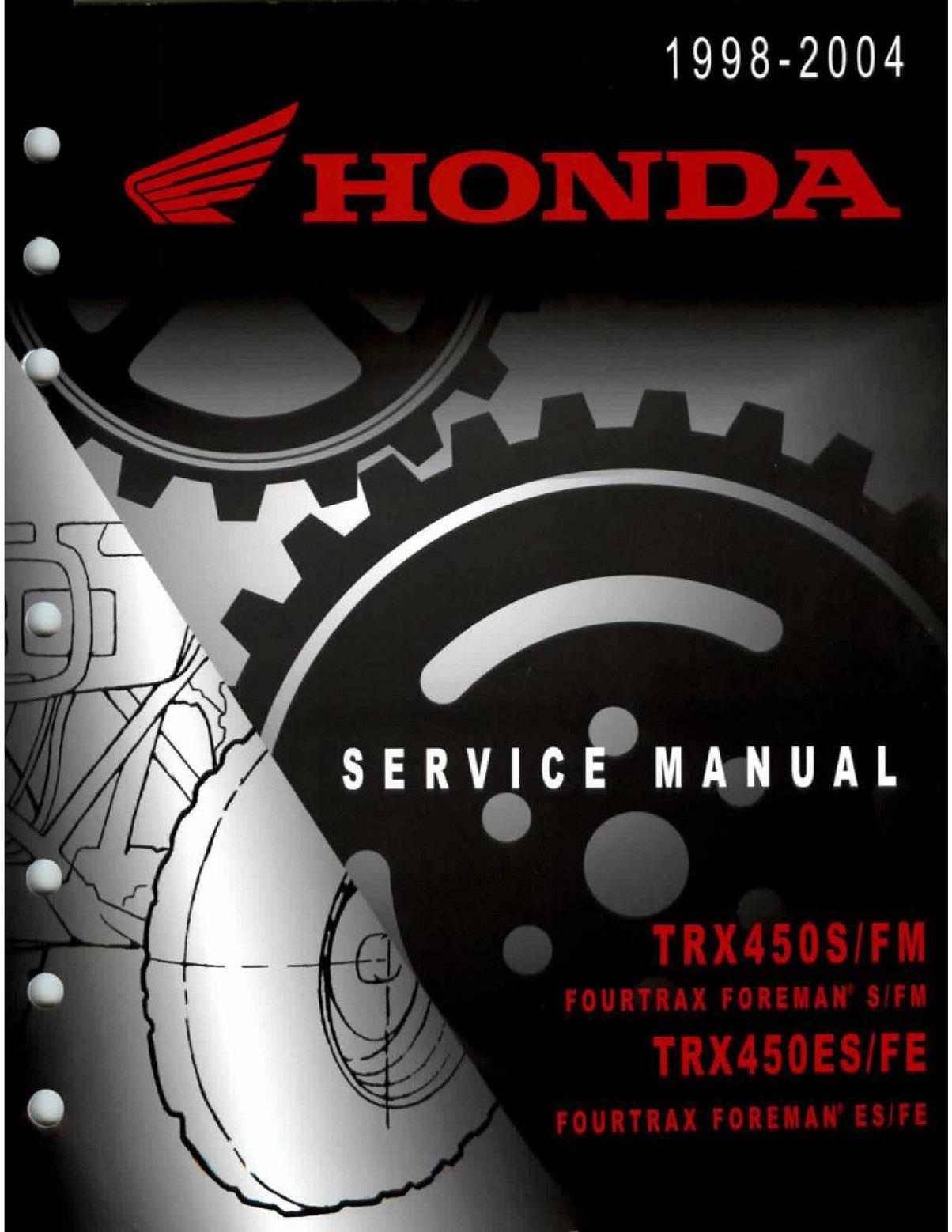 Workshop Manual for Honda TRX450S (1998-2004)