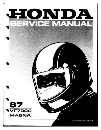 Workshop Manual for Honda VF700C Magna (1987)