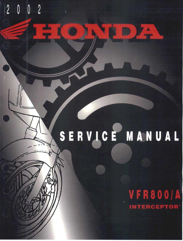 Workshop Manual for Honda VFR800 VTEC (2002)