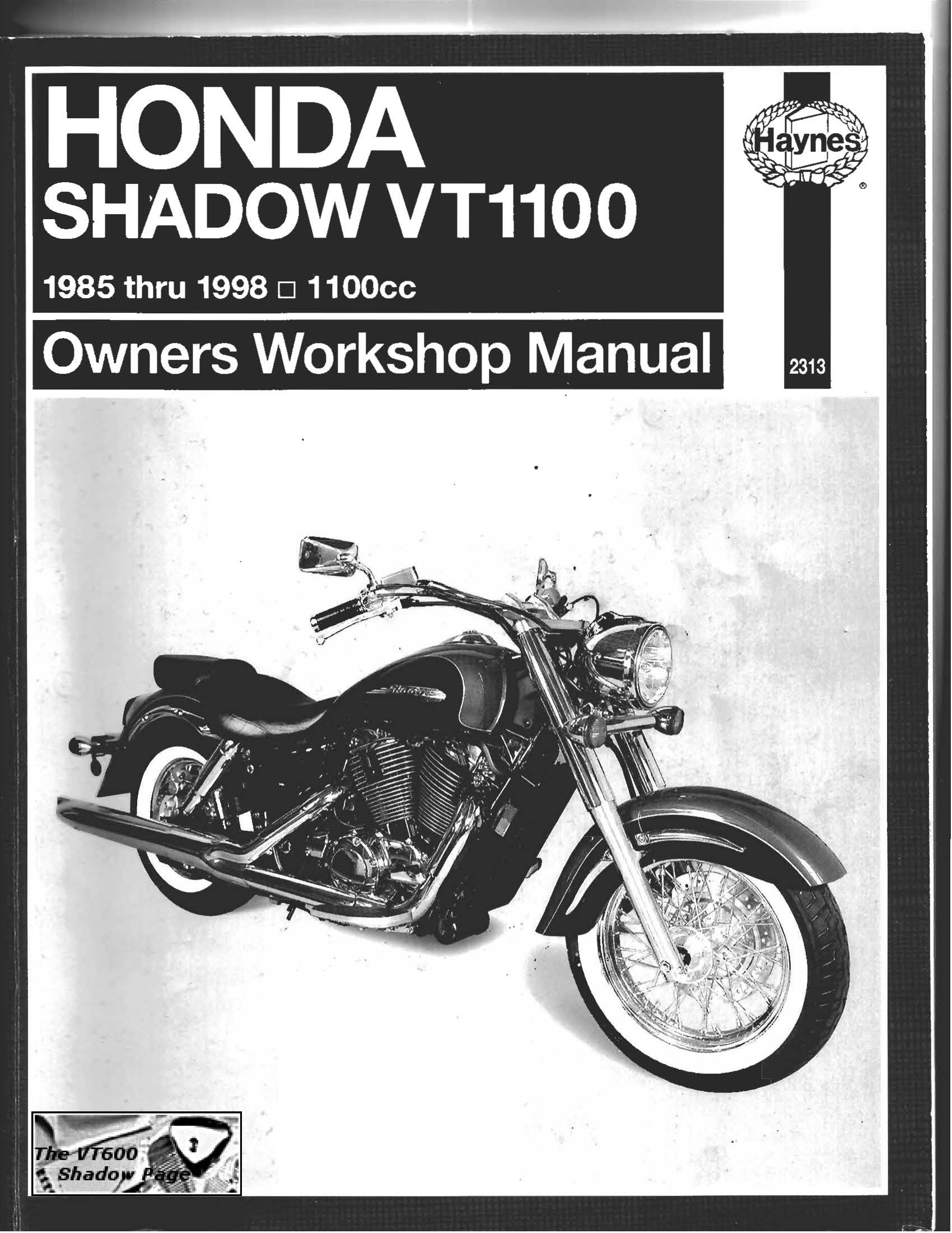 Workshop Manual for Honda VT1000 (1985-1998)