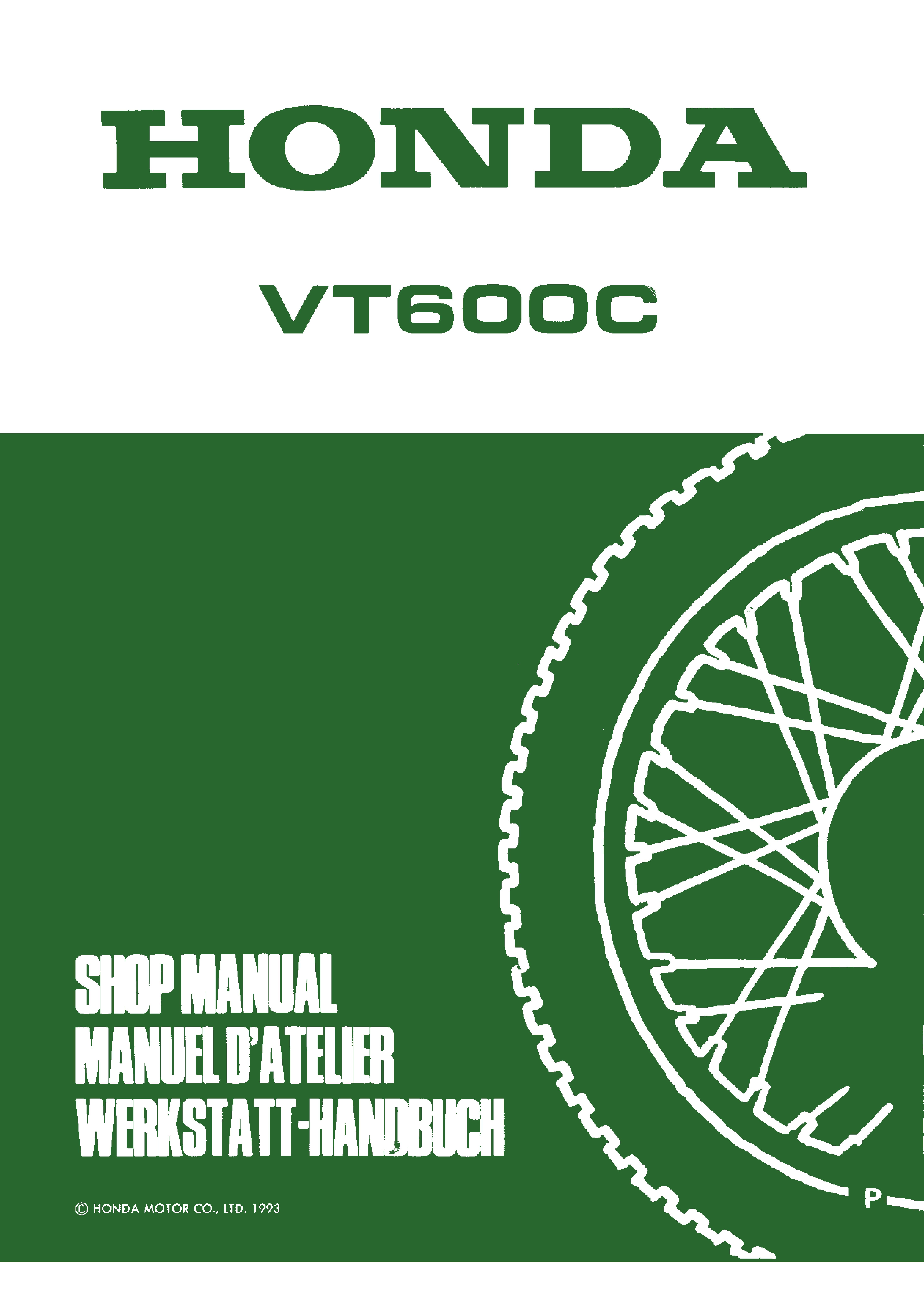 Workshop Manual for Honda VT600C (1993)