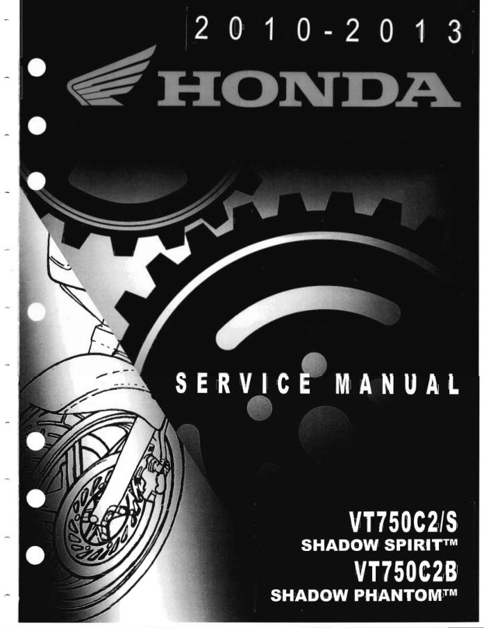 Workshop manual for Honda VT750C2B (2010-2013)