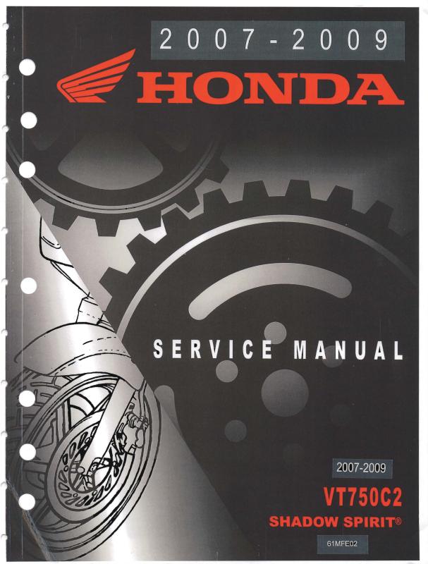 Workshop manual for Honda VT750C2F (2007-2009)