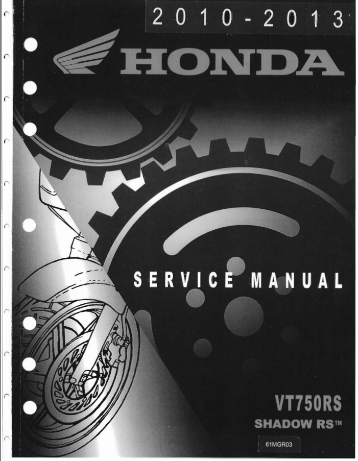 Workshop manual for Honda VT750C2RS (2010-2013)