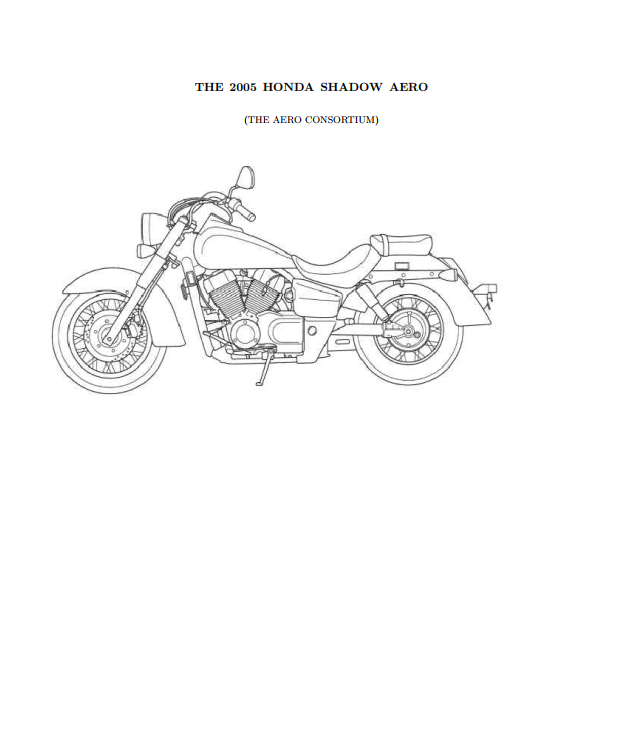 Workshop manual for Honda VT750C (2005)