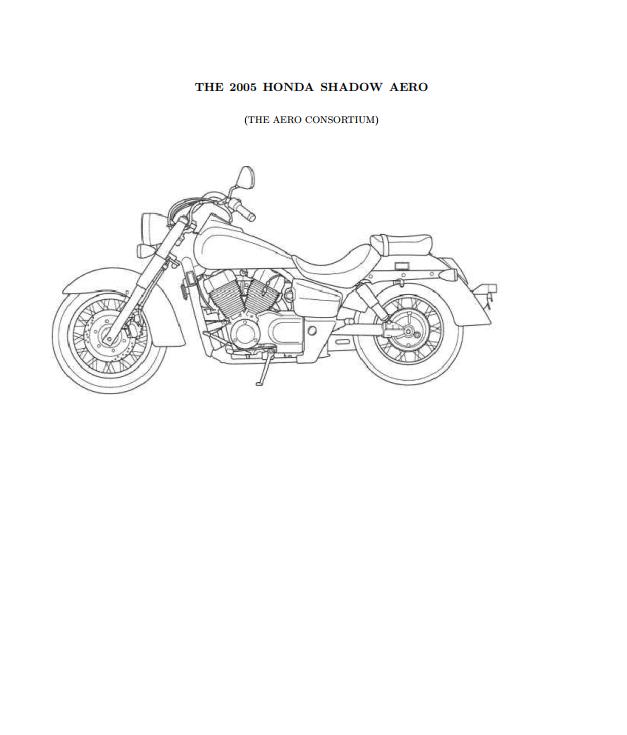 Workshop manual for Honda VT750CA (2005)
