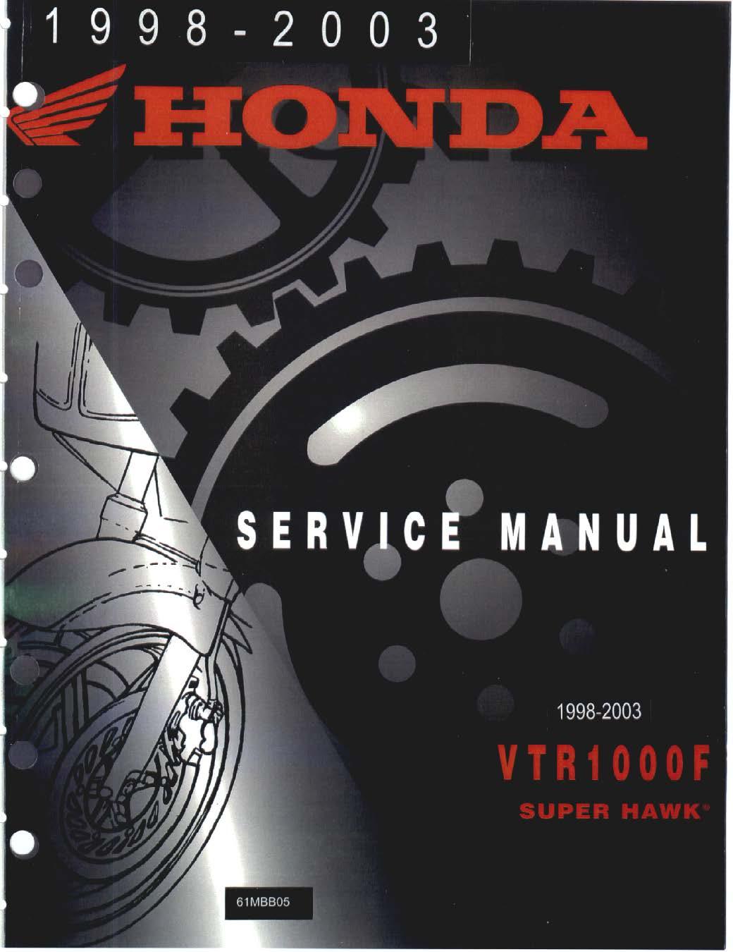 workshop manual for honda vtr1000f 1998 2003 4 stroke net all