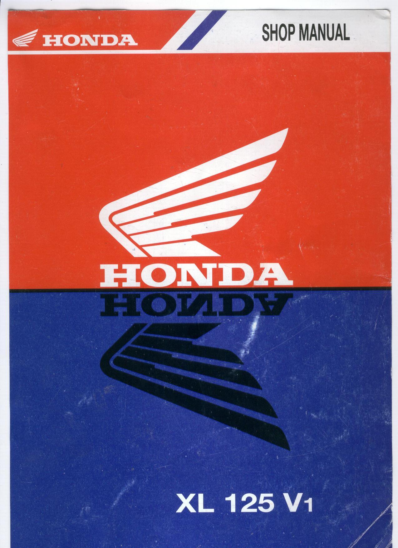 Workshop Manual for Honda XL125 (V1)