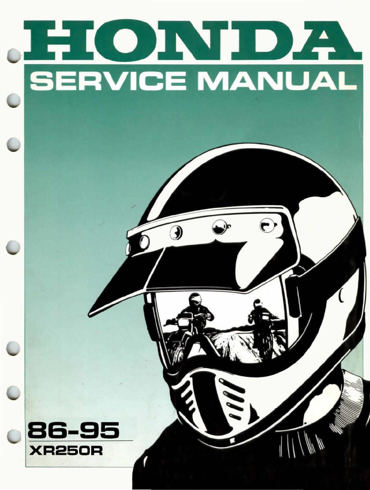 Workshop Manual for Honda XR250R (1986-1995)