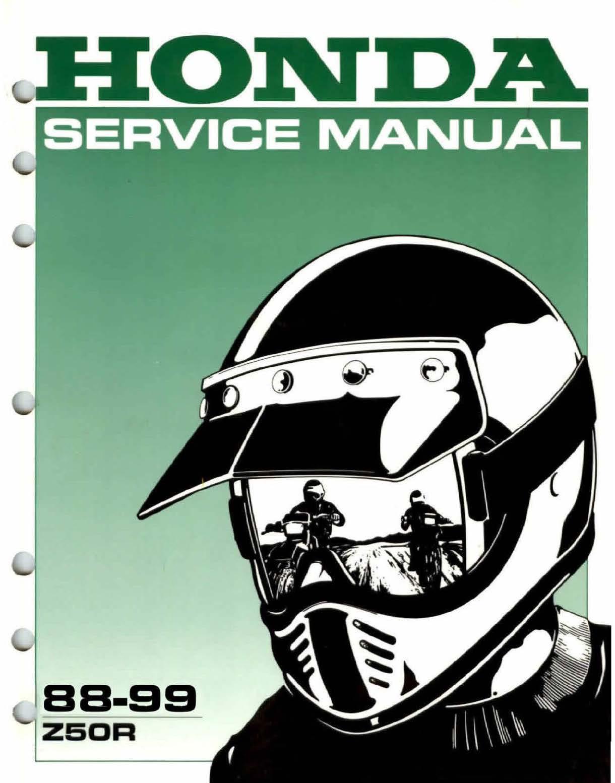 Workshop Manual for Honda Z50R (1988-1999)