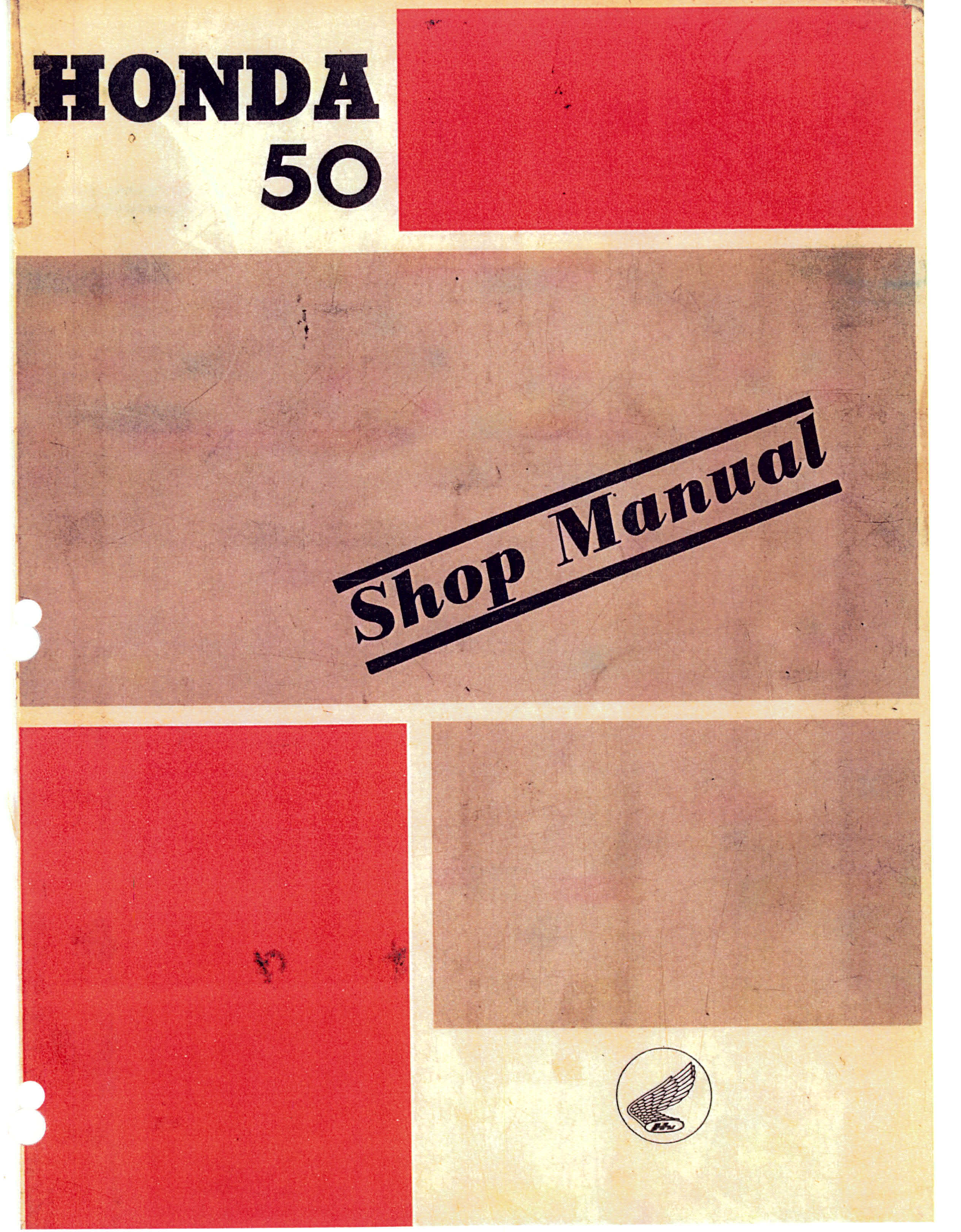 Workshop manual for Honda C100 (1961)