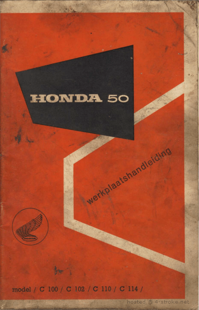 Workshop manual for Honda C102