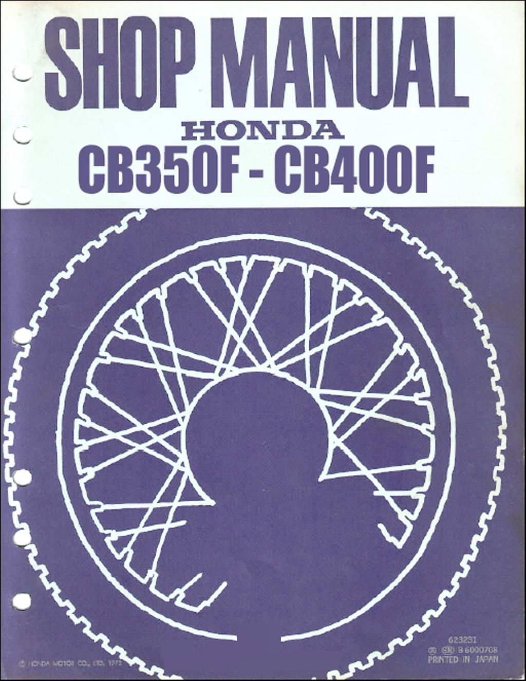 Workshop Manual for Honda CB400F (1972)