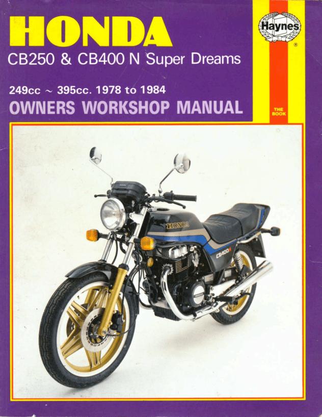 workshop manual for honda cb400n 1978 1984 4 stroke. Black Bedroom Furniture Sets. Home Design Ideas