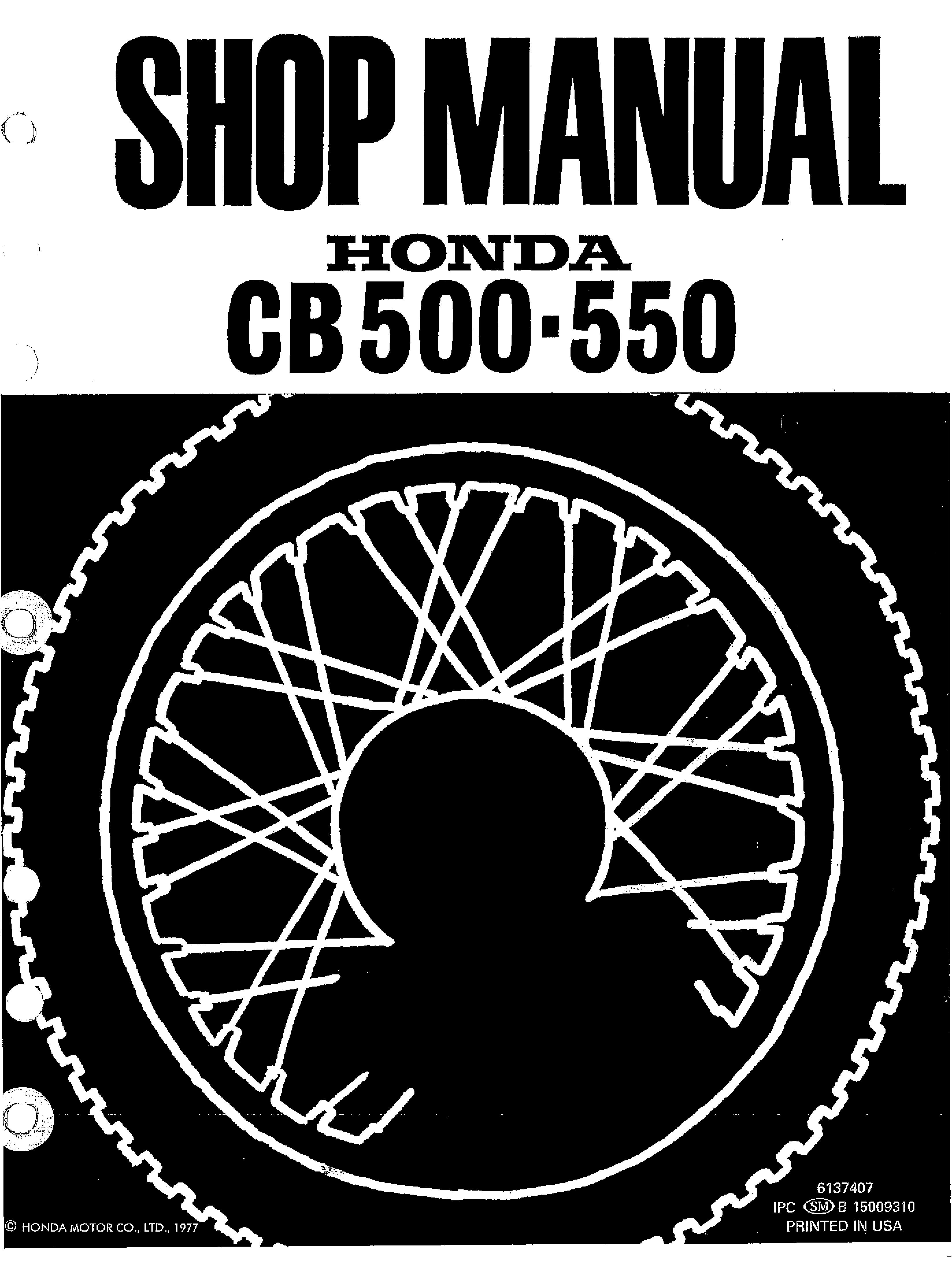 workshop manual for honda cb550k (1977) 4 stroke net all the Honda Motorcycle Wiring Diagrams workshop manual for honda cb550k (1977)