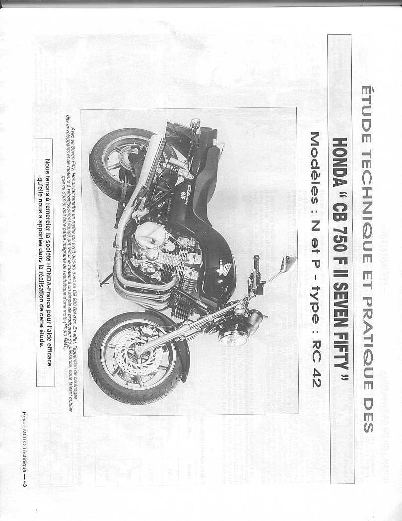 Workshop Manual for Honda CB750FII RC2 (1992-1995)