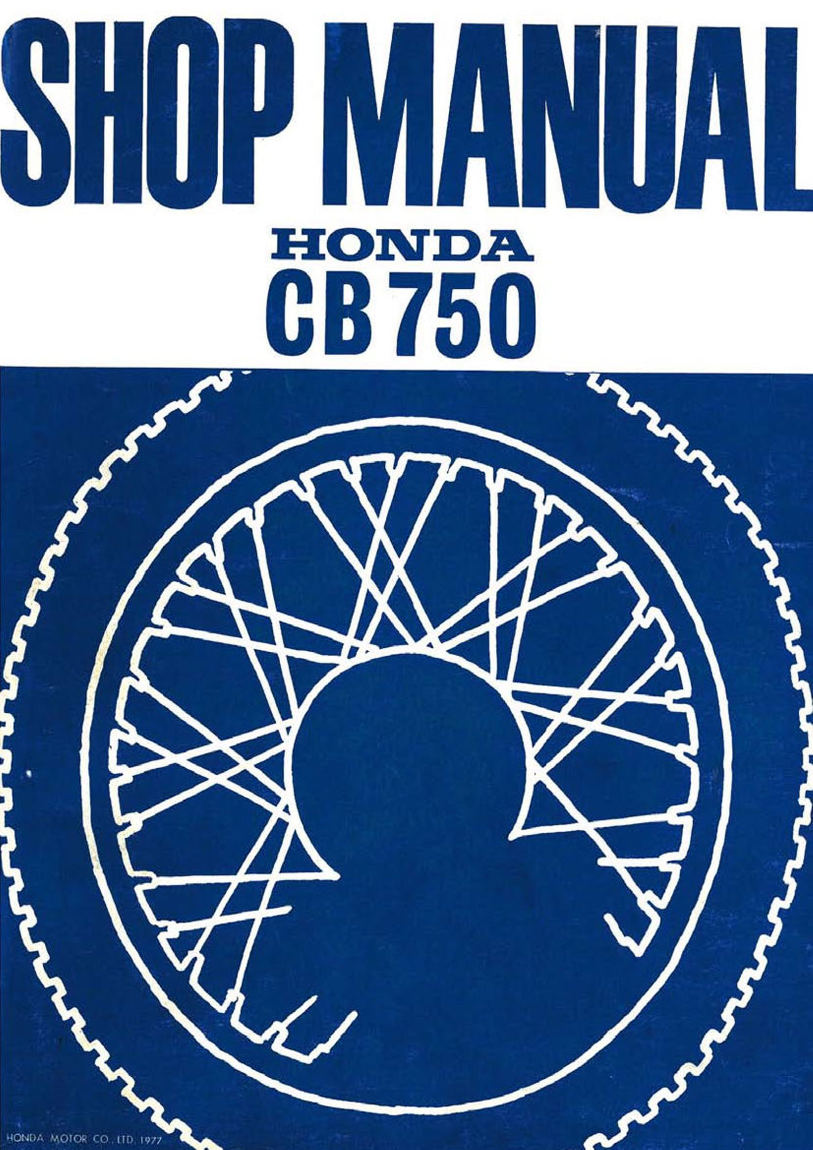Workshop manual for Honda CB750F (1977)
