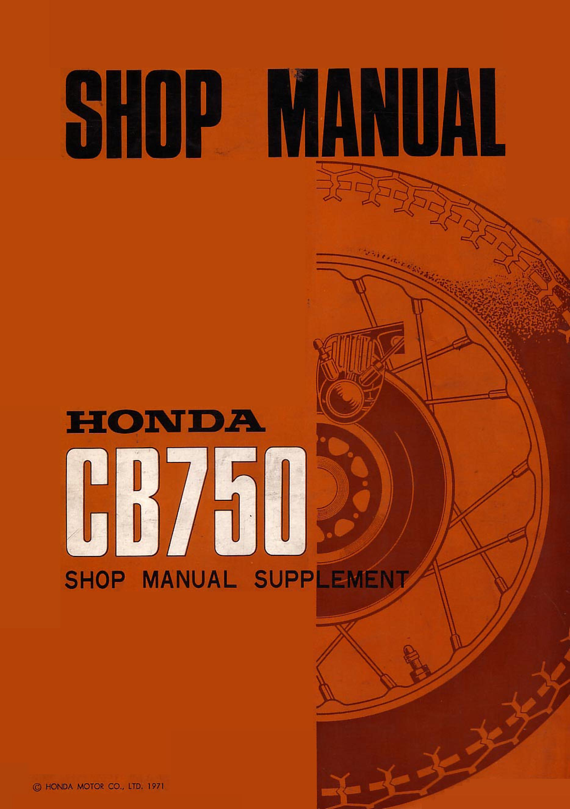 Workshop Manual For Honda Cb750 K1 1971 All The Ct 90 K 1 Wiring Diagram