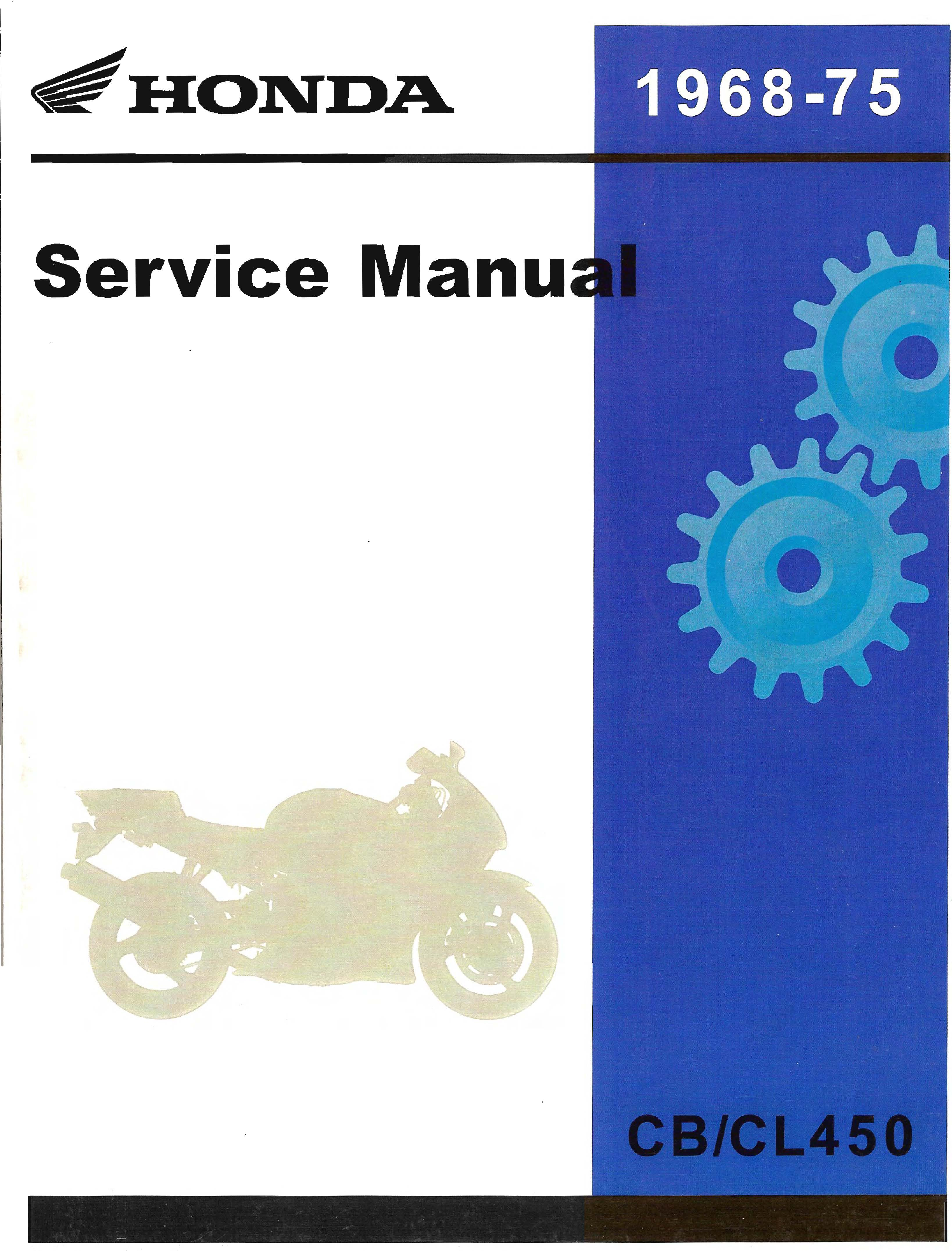Workshop manual for Honda CL450 (1968-1975)